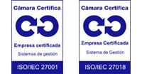 Logos Calidad ISO 27001/27018 Cámara