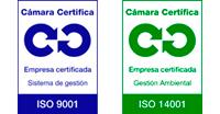 Logos Calidad ISO 9001-14001 Cámara